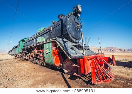Old Steam Locomotive On A