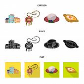 Vector Design Of Culture And Sightseeing Symbol. Collection Of Culture And Originality Vector Icon F poster