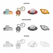 Isolated Object Of Culture And Sightseeing Sign. Set Of Culture And Originality Stock Symbol For Web poster