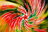Spiral From Red Flowers, Blue Eye In The Middle. Abstract Impressionism Photography Dreamy In Motion poster