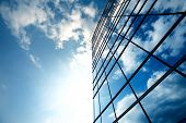 stock photo of clouds sky  - Modern building - JPG
