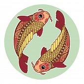 image of koi fish  - Zodiac signs  - JPG