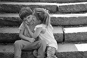 Best Friends, Friendship And Family Values. Childhood First Love. Small Girl And Boy. Relations. Sum poster