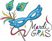 picture of mardi gras mask  - Illustration of a Mardi Gras Mask - JPG
