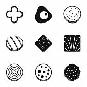 Eco Slice Product Icon Set. Simple Set Of 9 Eco Slice Product Icons For Web Isolated On White Backgr poster
