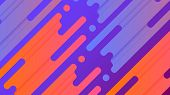 Abstract Line Vector Background Illustration. Colorful Vibrant Splash Lines Are Placed On Purple Gra poster