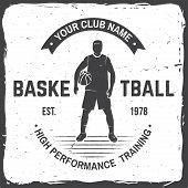 Basketball Club Badge. Vector Illustration. Concept For Shirt, Print, Stamp Or Tee. Vintage Typograp poster