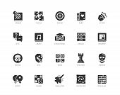 Video Game Genres Vector Icons Set In Glyph Style poster