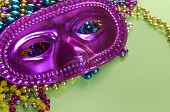 masquerade ball masks and beads