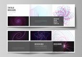 Vector Layout Of Two Square Format Covers Design Templates For Trifold Square Brochure, Flyer. Rando poster