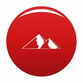 Mountain For Extremal Icon. Simple Illustration Of Mountain For Extremal Icon For Any Design Red poster
