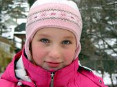 Portrait Of A Girl In Winter Hat poster