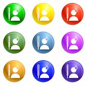 Man Sweat Icons Vector 9 Color Set Isolated On White Background For Any Web Design poster