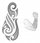 image of maori  - Maori style tattoo design fit for a forearm - JPG