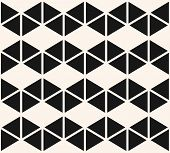 Geometric Triangles Seamless Pattern. Vector Black And White Abstract Texture With Triangular Shapes poster
