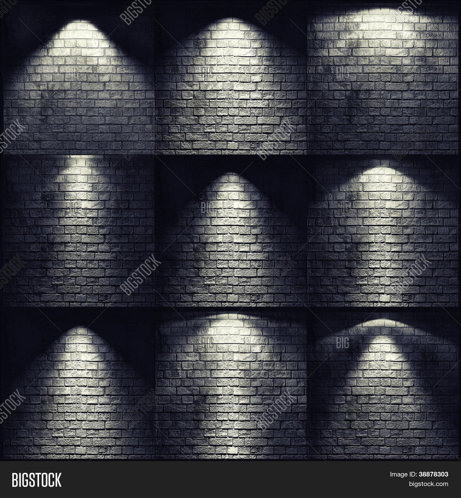 different types of lights on the brick wall stock photo u0026 stock