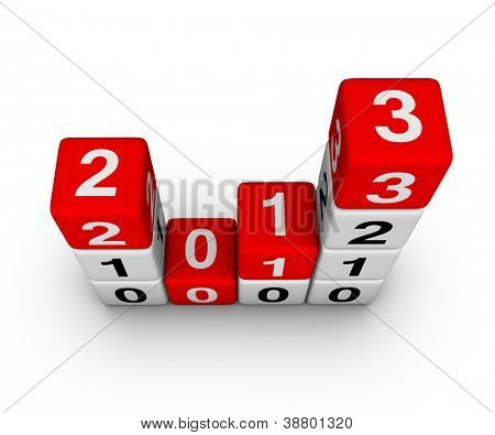 Happy New Year 2013 cubes sign