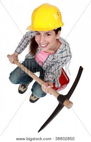 I got a pickaxe