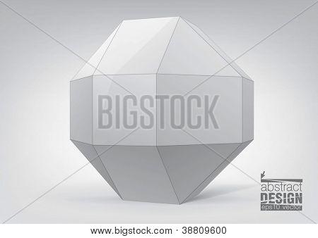 Rhombicuboctahedron for graphic design