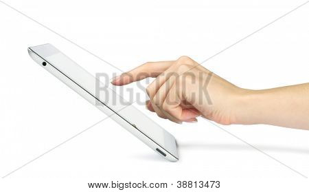 tablet computer in a hands