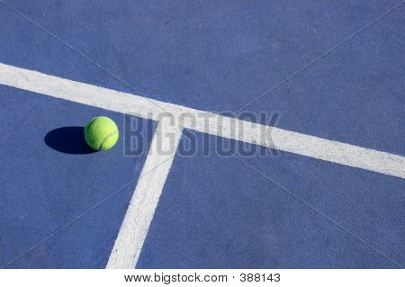 Tennis Court And Ball