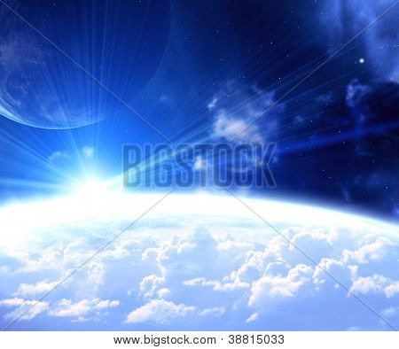 Fantastic beautiful space flare