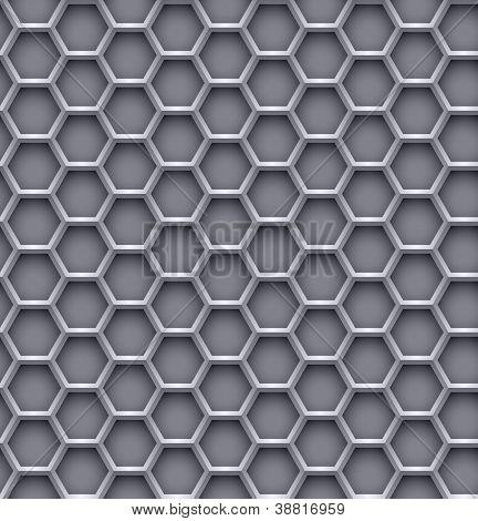 Hexagon steel background