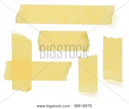 scotch strips isolated on white background