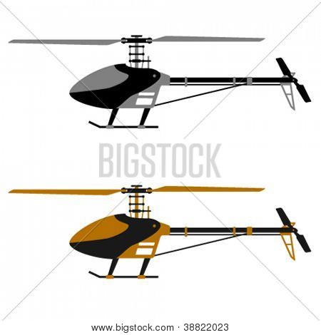 vector helicopter rc model icons