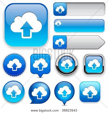 Sync blue design elements for website or app. Vector eps10.