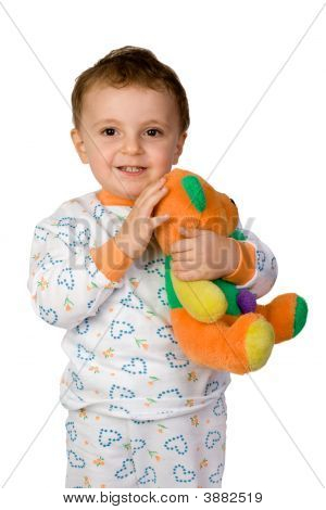 Boy With Tedy Bear