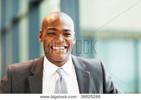 handsome african american businessman closeup portrait