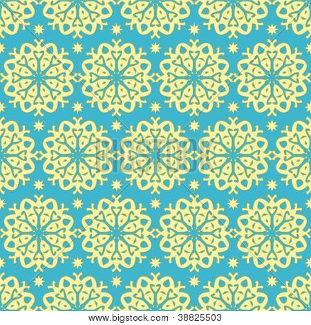 Gold and blue pattern, raster version