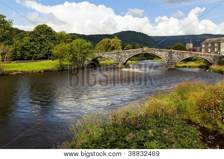 Pont Fawr, bridge across the river Conwy