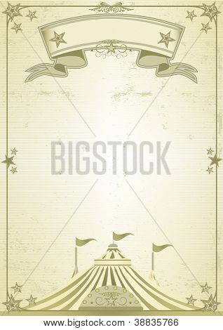 Big Top circus letter. A new old poster with a big top
