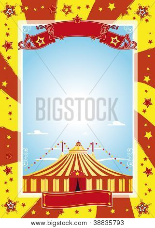 nice circus poster. A circus poster for your advertising