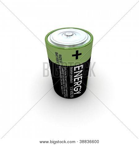 3D rendering of alkaline battery