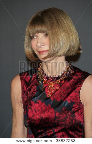 LOS ANGELES, CA - OCT 27: Anna Wintour at the LACMA 2012 Art + Film Gala at LACMA on October 27, 2012 in Los Angeles, California
