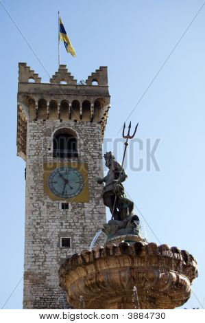 Trento Nettuno And Torre Civica