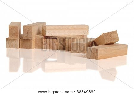 Wooden blocks. Conceptual.
