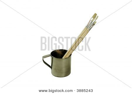 Stainless Steel Cup And Brushes