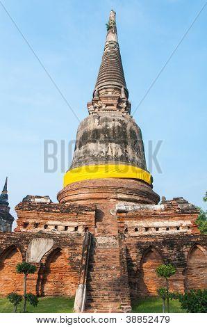 Pagoda At Wat Yai Chai Mongkol