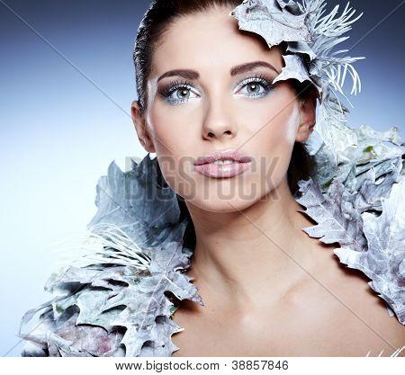 Winter queen woman