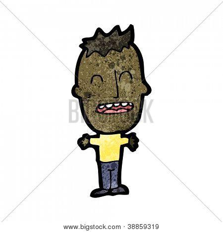 cartoon big head man