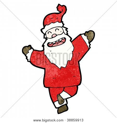 cartoon dancing santa claus