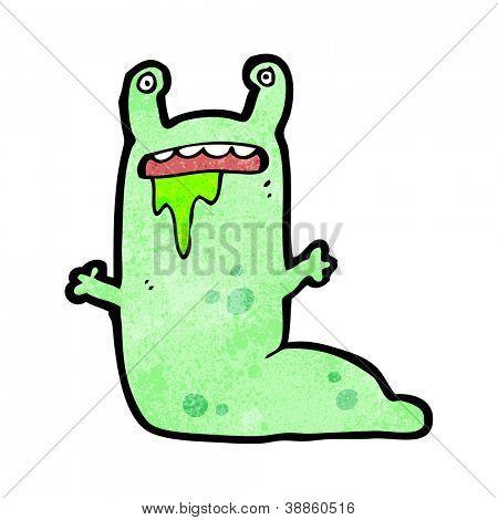 cartoon gross slug character