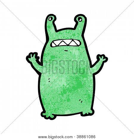 cartoon slug alien monster