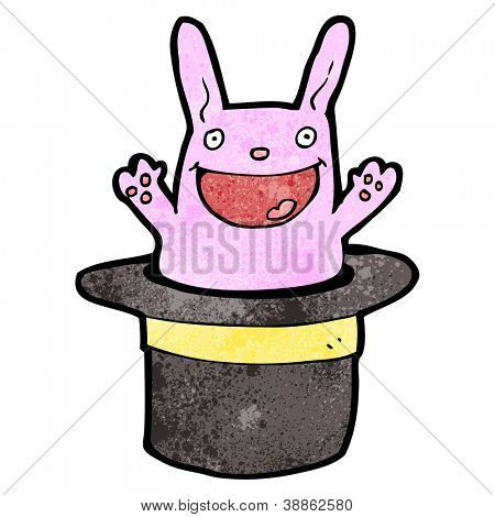 rabbit in hat cartoon