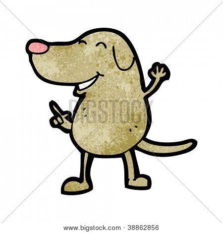 cartoon dancing dog