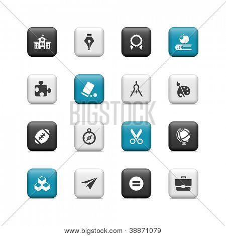 School icons 2. Buttons